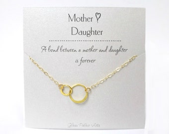 Mother Daughter Necklace, Gift For Mom, Personalized Mother Gift, Jewelry For Mom, Daughter Gift, Forever Necklace, Mother In Law Gift