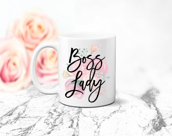 Boss Lady Boss Appreciation Gift Coffee Mug Perfect Gift for Your Boss Birthday Gift