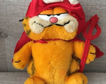 Vintage Garfield Devil Plush With Tags 1979