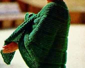 Knit Capelet Vintage Knitting Pattern Download