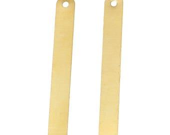 x 2 pendants gold metal barrettes.