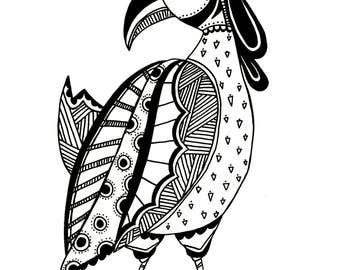 Queenie Weird Bird print
