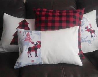 Red & Black Buffalo Check Pillow Cover