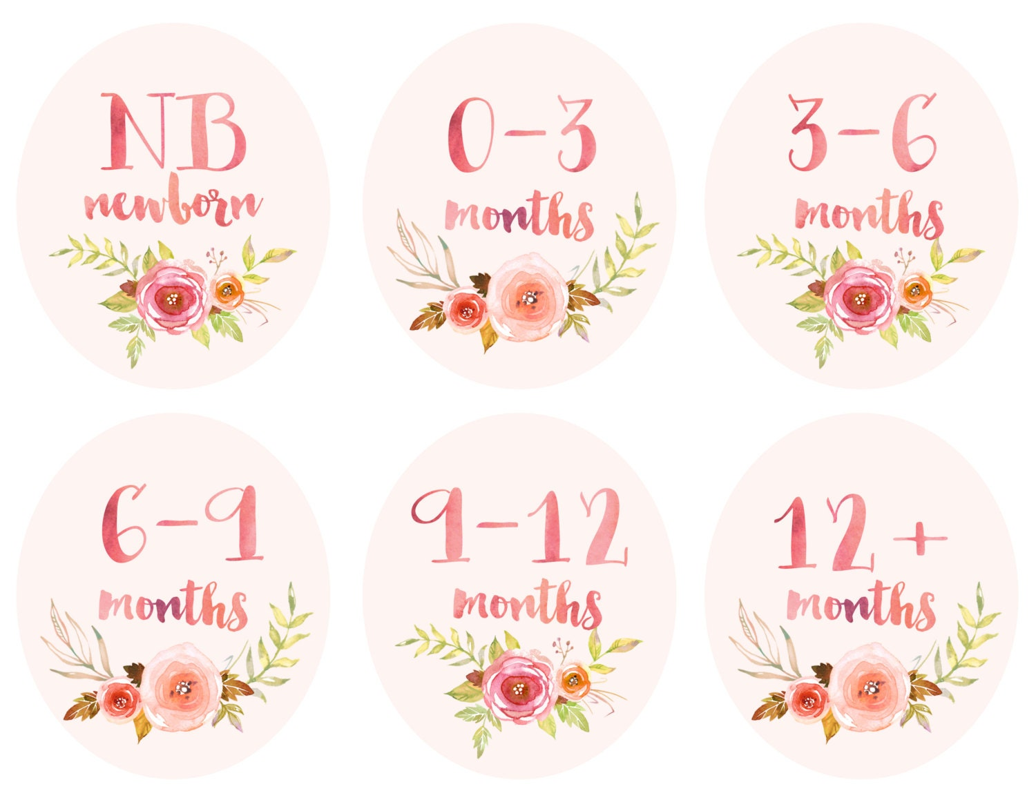 Baby Girl Infant Clothing Printable Labels Dividers