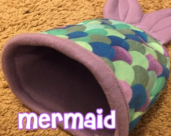 Blue Mermaid Snuggle Sack for Guinea Pigs, Hedgehogs, and small pets