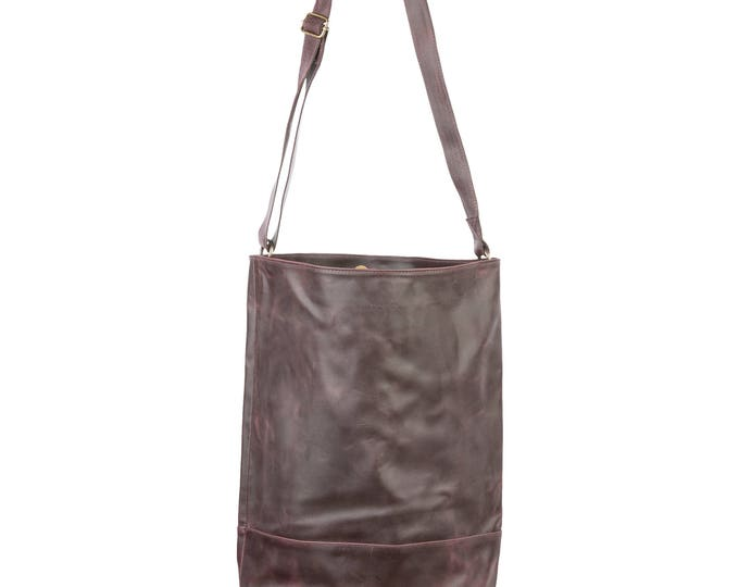 Pyar&Co. Noella Leather Bag_marble purple
