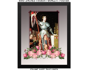 St Joan of Arc - religious poster - catholic artwork - saints serie art print - Saint Joan of Arc - catholic saints