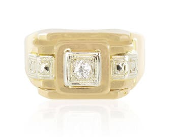 Tank ring Yellow Gold Diamond