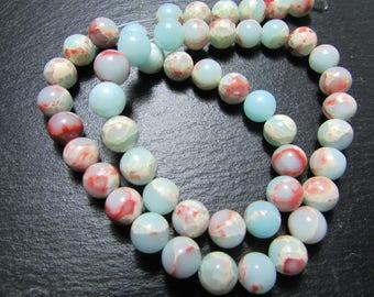 set of 5 beads of Jasper in 8 mm