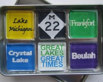 Frankfort, Crystal Lake, Beulah, Point Betsie, Platte River, M22, Up North Michigan, Michigan, Michigan Magnets, Northwest Michigan