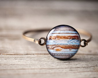 Jupiter bracelet, Mothers day gift, Solar system bracelet, Science jewelry, Scientist gift Space jewelry, Space gift for her, Space bracelet