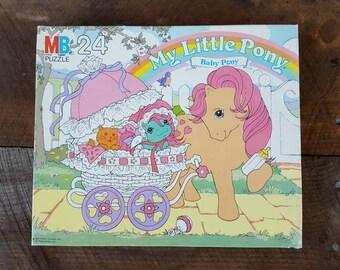 My Little Pony, Baby Pony, 1985, vintage Jigsaw puzzle, sealed in original box, Milton Bradley, 24 pieces