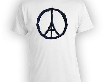 Peace For Paris #PrayForParis Shirt #PrayersForParis Peace French T Shirt Peace Symbol Eiffel Tower Tshirt Freedom Shirt  BBW-201