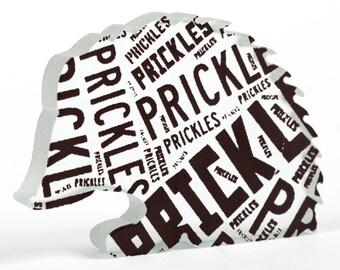 Prickles Hedgehog Glass Sculpture