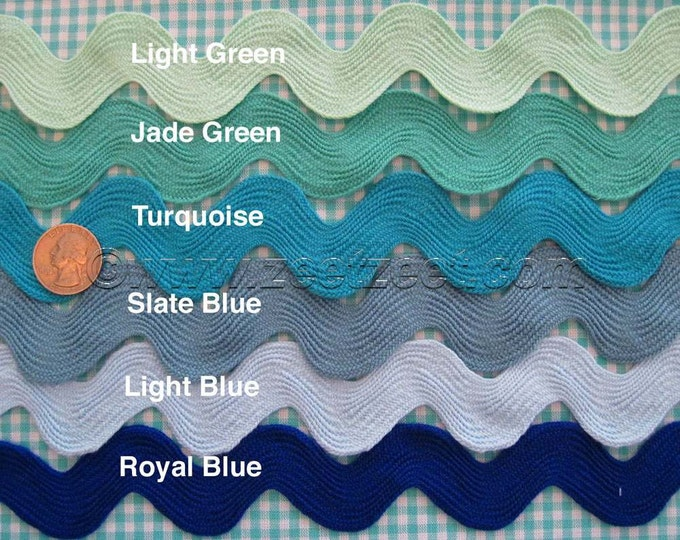 Choose Your Colors - Any Amount - Giant RIC RAC Jumbo Sewing Trim 1.5-Inches Wide - Rick Rack - 30 Colors to Choose from