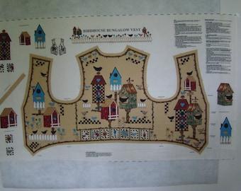 Birdhouse Bungalow Vest Panel