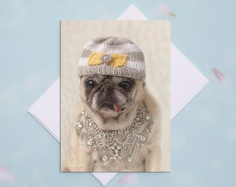 Funny Friendship Cards - Indoor Kinda Girl - Funny Cards for Friends by Pugs and Kisses