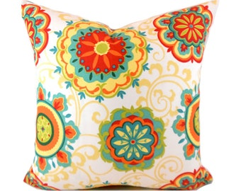 Outdoor Pillows Outdoor Pillow Covers Decorative Pillows ANY SIZE Pillow Cover Orange Pillow Mill Creek Outdoor Farrington Pizazz