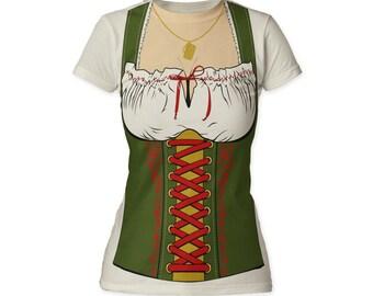 Auswirkungen von Fräulein Octobeerfest Kellnerin Frauen ausgestattet Kostüm T Shirt - (IMPTU11)