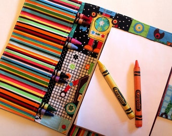 Crayon Holder - Kids Coloring - Travel Toy - Robot Crayon Case - Coloring - Kids Coloring - Children's Gift - Party Favor