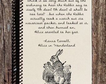 Alice in Wonderland Journal - Alice in Wonderland Notebooks - The Rabbit - I'm Late For A Very Important Date