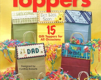 Gift Bag Toppers - the Needlecraft Shop Plastic Canvas Pattern Leaflet