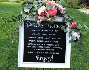 Custom Chalkboard Lettering Sign for Wedding and/or Special Event