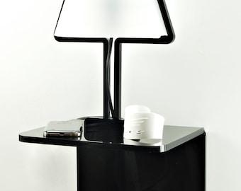 Estante-lámpara de la mesilla / / SOLLOZAR / / LampBED-estante / acrílico lámpara / / hecho a mano lámpara minimalista / / muebles del hogar / / accesorios de dormitorio