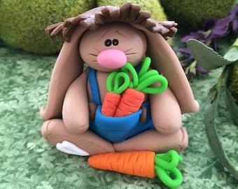 Polymer Clay Spring Boy Bunny Rabbit