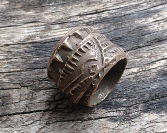 Bronze Wrapped  Bead