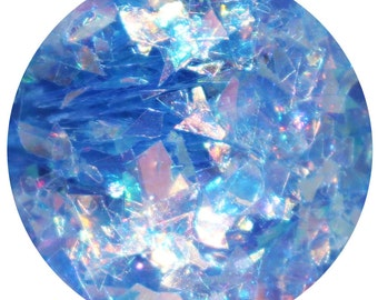 The Ice Queen | Body, Face, Hair Glitter For Festival, Rave, Party, Cosplay | Blue Mylar Iridescent Festival Glitter Makeup | Body Glitter
