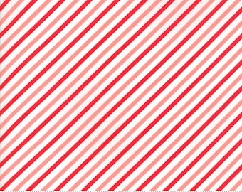 Vintage Holiday Bias Candy Stripe Pink and Red by Bonnie and Camille for Moda # 55168 14