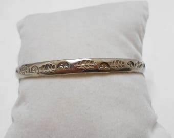 Vintage Unmarked Sterling Bangle, Mexico (5776)