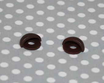 Eyelids Kawai Brown 10 mm for plush, plushie, amigurumi