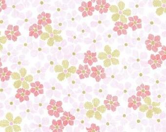 METALLIC Pink Glitz Flower, Glitz Garden, Michael Miller Fabrics