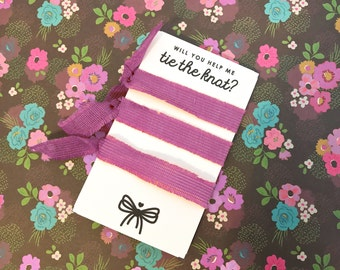 Tie The Knot Card Template, Will You Help Me Tie The Knot Card Template, PDF Download *digital file* / SKU: LNWP02