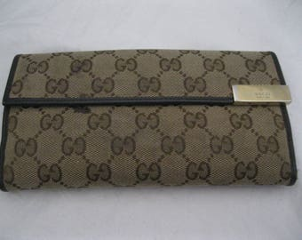 Gucci Monogram Tri-Fold Wallet