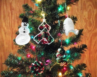 Crochet Patterns: Christmas Ornament Collection Volume 1 Christmas Bell, Snowman, Trees, Wreath. Christmas Tree Ornaments