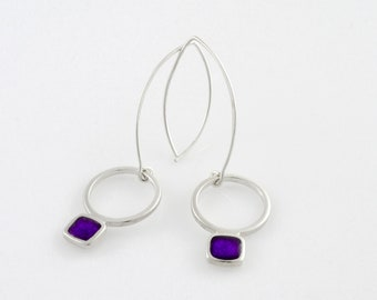 Silver Earrings - Choose your colour