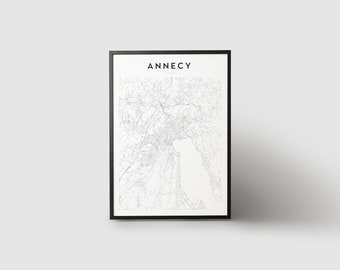 Annecy Map Print