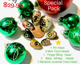 Holiday Special Pack --DIY Variety Pack of Heads for Fly Fishing Flies or Lures by DropJaw