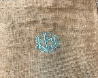 Personalized Tote Bag Monogrammed Jute Bag Jute Tote Monogram Tote Beach Tote Travel Bag Personalized Tote Gift for Her Teacher Gift