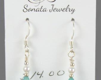 Aqua Lily Earrings