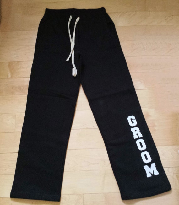 Custom Bride and Groom Sweatpants . Gift for Bride . Gift for