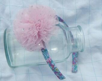 Pink Tulle Headband, Flower Headband, Baby Headband, Headband, Hair Accessories