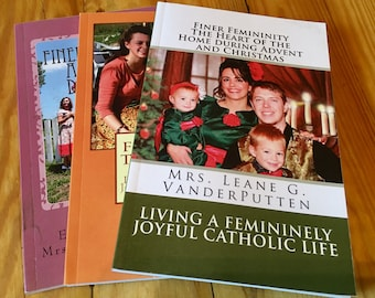All 3 Maglets! Sunshiny Disposition, True Womanhood and Advent/Christmas Finer Femininity Magazine Booklet Package of 3!