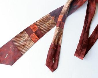 Classic 1940's printed tie