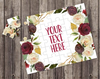 Create Your Own Puzzle - Pregnancy Announcement - Custom Puzzle - Personalized Puzzle - Announcement Ideas - Wedding Announcement - CYOP0148