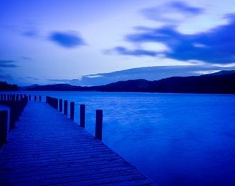 Lake Coniston in Blue