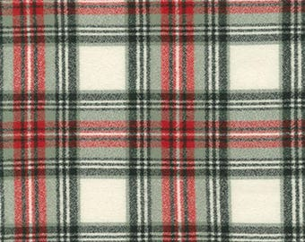 Country Plaid Flannel Fabric-Mammoth Flannel-Robert Kaufman-Tartan Plaid Flannel-Red and Black Plaid Flannel-Scarf Flannel-Quilt Flannel
